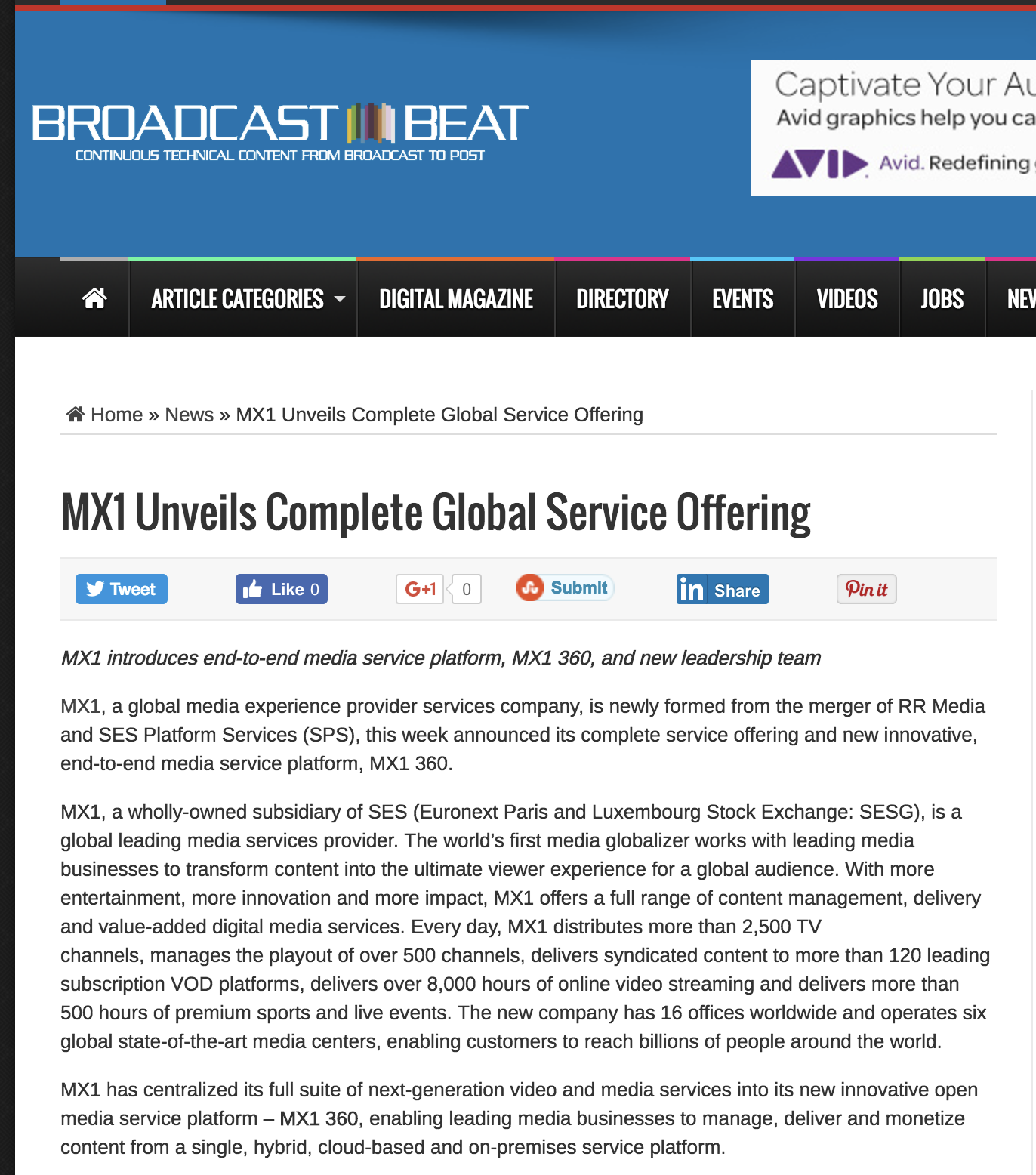 editorial: MX1 Unveils Complete Global Service Offering