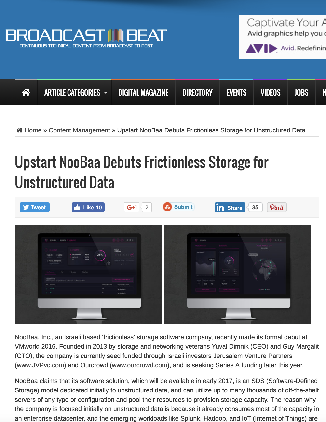 editorial: NooBaa Debuts Frictionless Storage